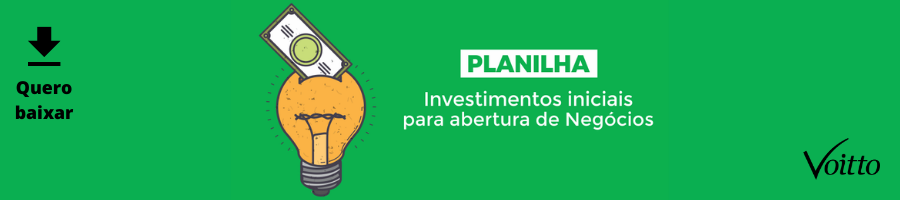 Planilha de Investimentos Iniciais para Abertura de Negócios