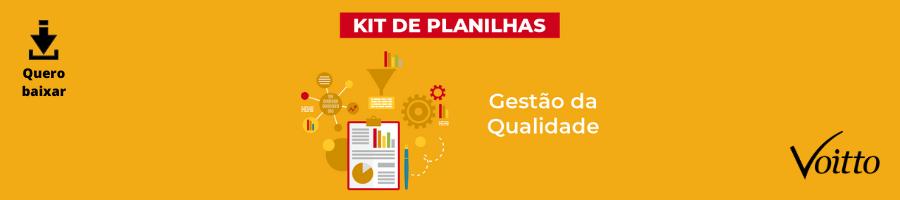 Kit de Planilhas da Gestão da qualidade