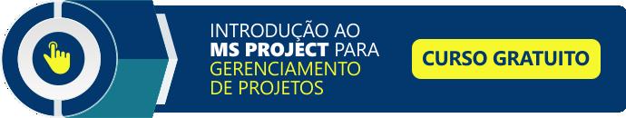 curso de introdução ao MS project para gerenciamento de projetos