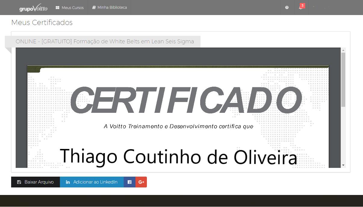 imagem de um certificado