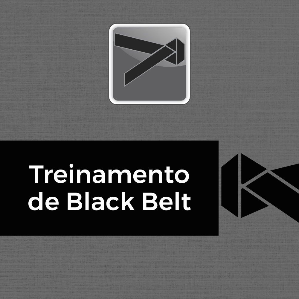Treinamento de Black Belts em Lean Seis Sigma 60h (Green Belt 40h + Upgrade 20h)