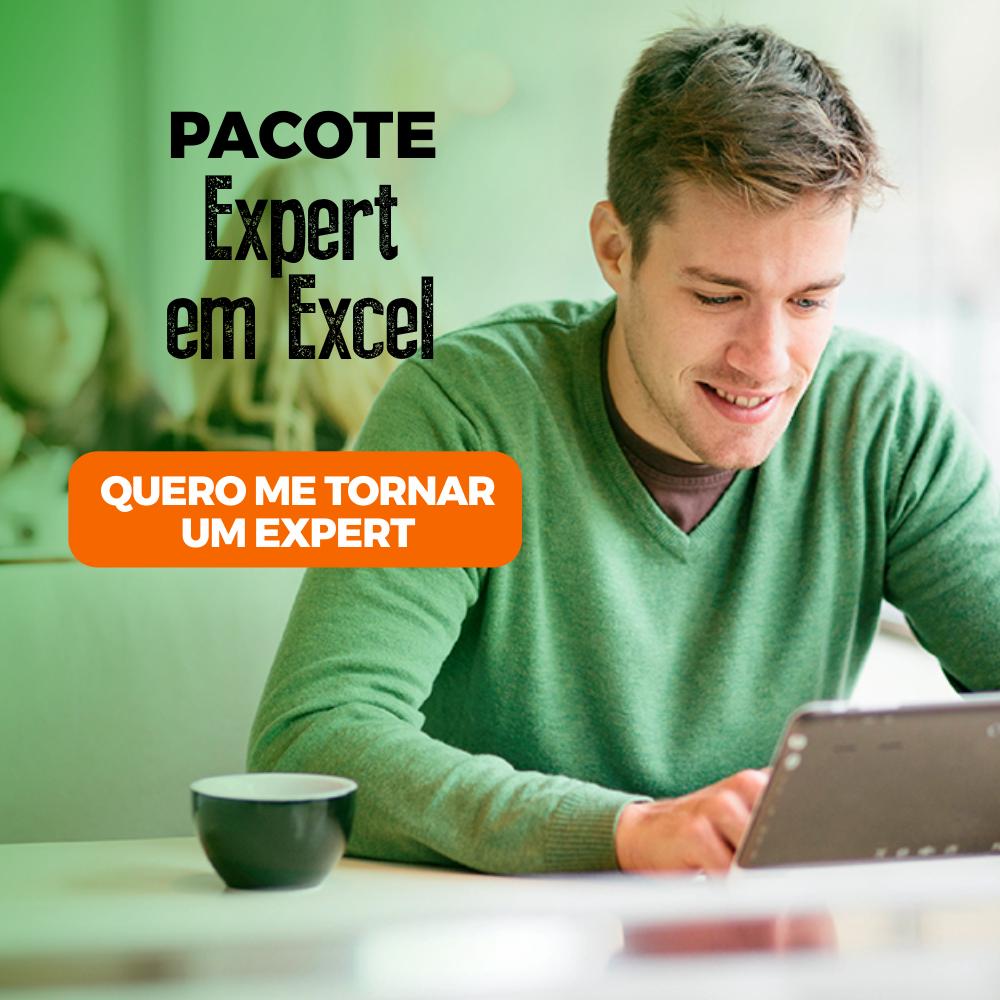 Formação Expert em Excel - 56h (Excel Aplicado a Negócios 20h + VBA Aplicado a Negócios 16h + Dashboards de Gestão 20h)